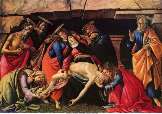 Botticelli, Sandro: Passion of Christ. Fine Art Print/Poster. Sizes: A4/A3/A2/A1 (001466)
